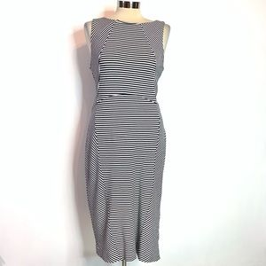 Banana republic striped knit midi dress